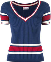 RED Valentino V-neck knitted top