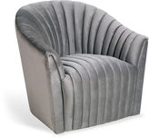 Interlude Channel Chair, Silver