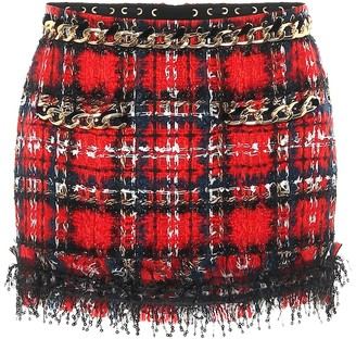 Balmain Embellished tweed miniskirt