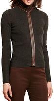 Lauren Ralph Lauren Petite Cotton Zip-Front Cardigan