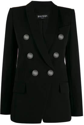 Balmain Oversized Wool Double Breasted Blazer