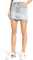 One Teaspoon Women's 2020 Distressed Denim Miniskirt