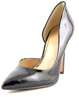 Jessica Simpson Claudette Women Pointed Toe Synthetic Black Heels.