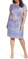 Nic+Zoe Plus Size Women's Checked Out Sheath Dress