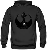 Louisrue Hoodie Women's Star Wars VII Design Rebel Logo Hoodie S