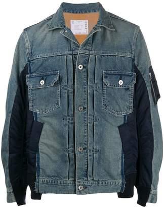 Sacai contrasting denim jacket