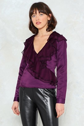 Nasty Gal Womens If I Can't Have You Ruffle Top - Purple
