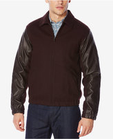 Perry Ellis Men's Mixed-Media Bomber Jacket