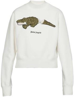 Palm Angels Croco Over Crew Sweatshirt