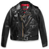 Rag & Bone + Schott Leather Biker Jacket - Black