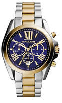 Michael Kors Two-Tone Bradshaw Watch with Navy Dial MK5976