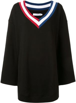 Goodious oversized V-neck sweatshirt