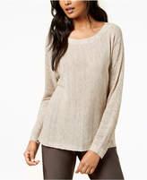 Eileen Fisher Scoop-Neck Long-Sleeve Sweater, Regular & Petite