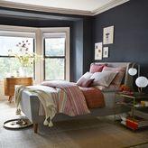 west elm Upholstered Sleigh Bed - Linen Weave