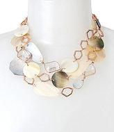 Kenneth Cole New York Mixed Shell & Mother-of-Pearl Multi-Row Necklace