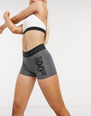 Nike Training Nike Pro Training 3inch booty shorts in grey