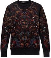 Alexander McQueen Embroidered Fleece-Back Cotton-Jersey Sweatshirt