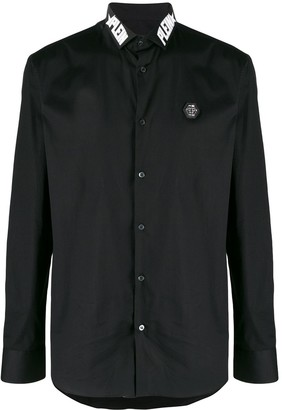 Philipp Plein Star Logo Print Collar Shirt