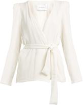 RYAN ROCHE Belted wrap-front silk blazer