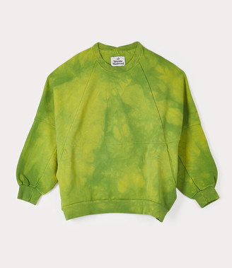 Vivienne Westwood Ela Sweatshirt Lime Green Tie-Dye