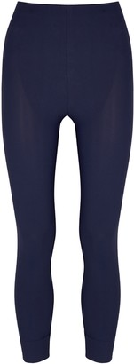 High Halt navy stretch-jersey leggings