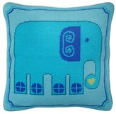 Jonathan Adler Blue Elephant Needlepoint Cushion