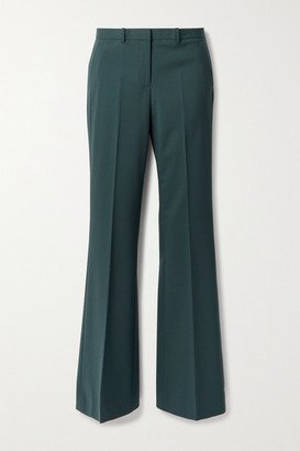Theory Demitria 4 Wool-blend Flared Pants - Dark green