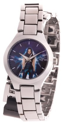Disney Descendants 3 Mal Girl's Silver Alloy Watch, 1-Pack