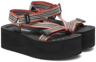 Burberry Icon Stripe platform sandals