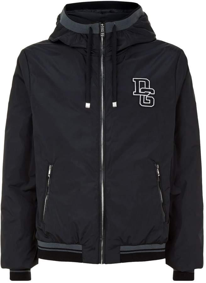 Dolce & Gabbana Logo Appliqué Hooded Jacket