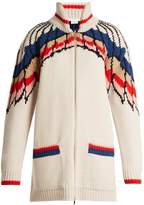 Stella McCartney All Is Love Star-intarsia wool knit cardigan