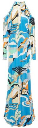 Emilio Pucci Cold-shoulder Belted Printed Jersey Maxi Dress