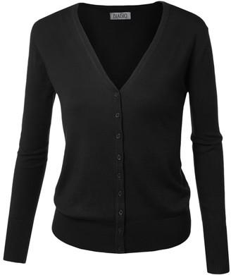 BB B+B Women's Cardigans Black - Black V-Neck Cardigan - Women & Plus