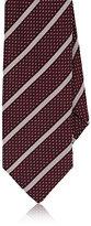 Barneys New York Men's Striped Silk Necktie-Red