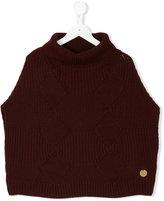 Simonetta sleeveless knitted top