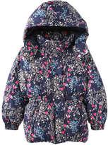 Joe Fresh Toddler Girls' Floral Puffer Jacket, Navy (Size 3)