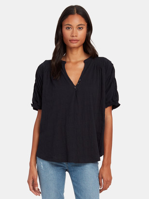 Free People Fever Dream Ruched Sleeve Tee