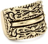 """Barse Jubilee"""" Ornate Wide Band Ring, Size 7"""