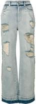 Dolce & Gabbana ripped wide leg jeans