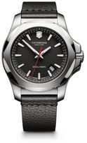 Victorinox INOX Stainless Steel & Leather Strap Watch