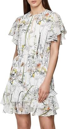 Reiss Juno Watercolor Floral Print Dress