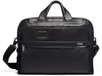 Tumi Alpha 3 Organizer Portfolio Leather Briefcase