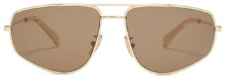 Celine Aviator Gold-tone Metal Sunglasses - Mens - Gold