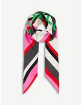 Balenciaga Bazar logo-print silk-twill scarf