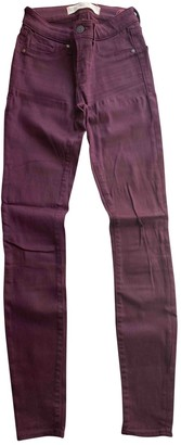 Marc by Marc Jacobs Burgundy Cotton - elasthane Jeans for Women