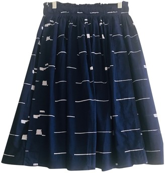Apiece Apart Blue Cotton Skirts