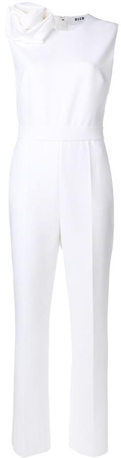 MSGM Rosette-Embellished Jumpsuit