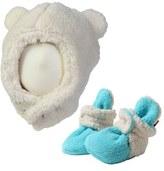 Zutano Furry Bear Hat & Bootie Set (Baby)