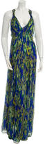 Matthew Williamson Silk Printed Maxi Dress