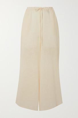 CLOE CASSANDRO Net Sustain Lucy Cotton-gauze Wide-leg Pants - Cream